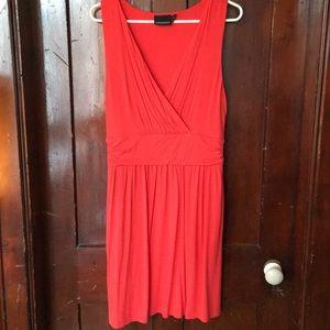 Flattering Orange wrap front dress